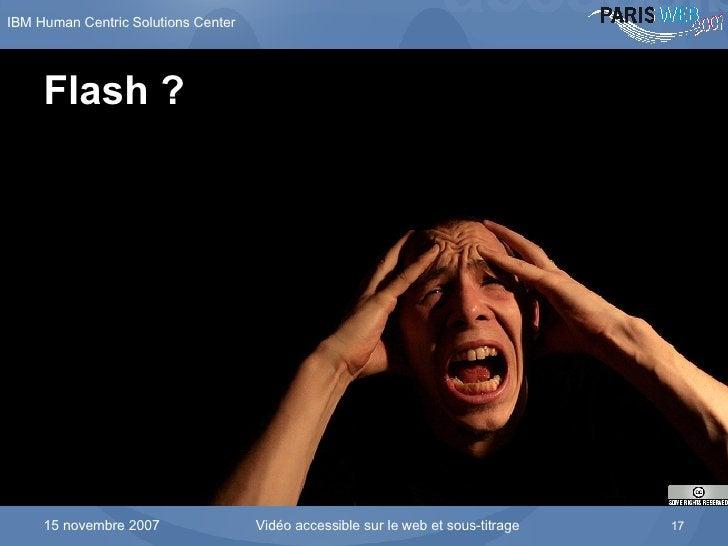 Flash ?