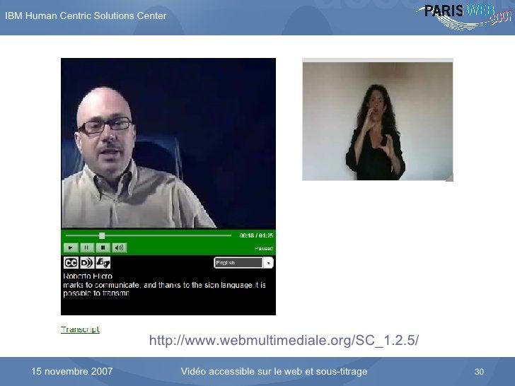 L'interface du lecteur développé par Alessio Cartucci http://www.webmultimediale.org/SC_1.2.5/