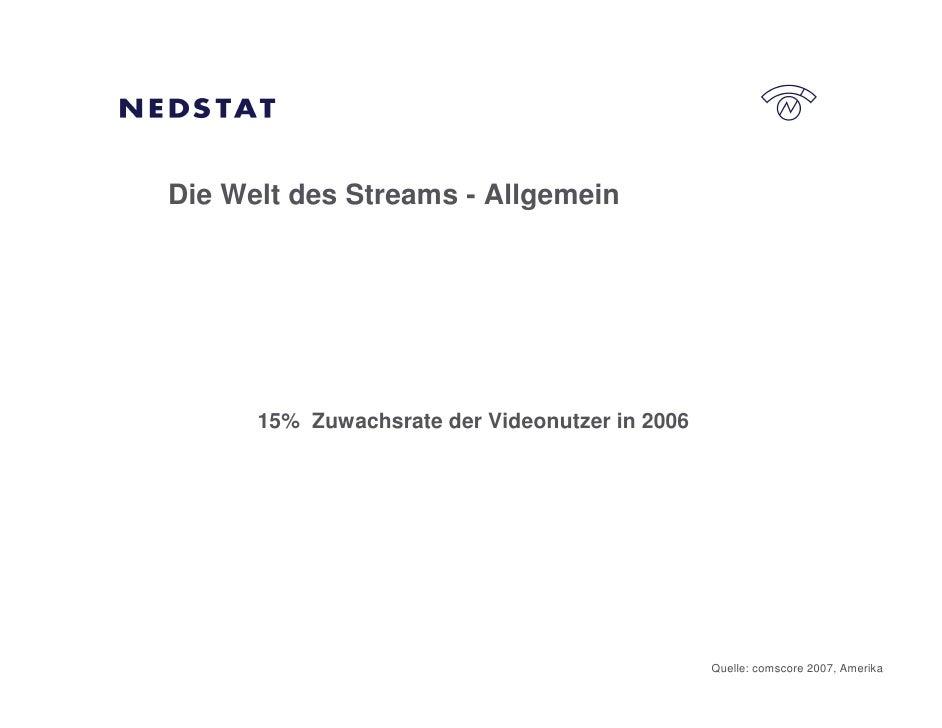 Die Welt des Streams - Allgemein           15% Zuwachsrate der Videonutzer in 2006                                        ...