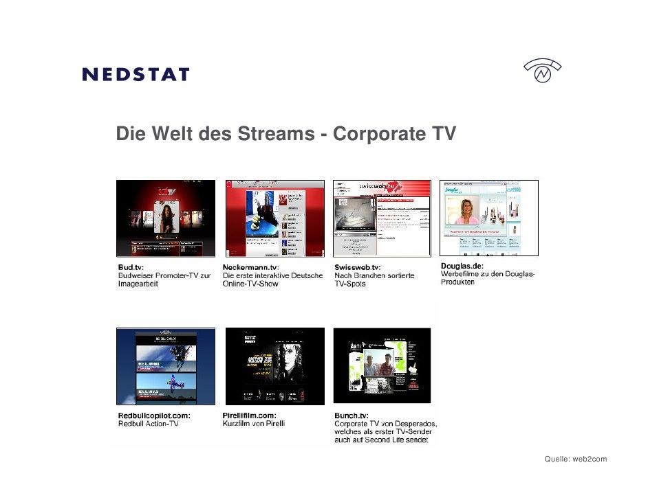 Die Welt des Streams - Corporate TV                                           Quelle: web2com
