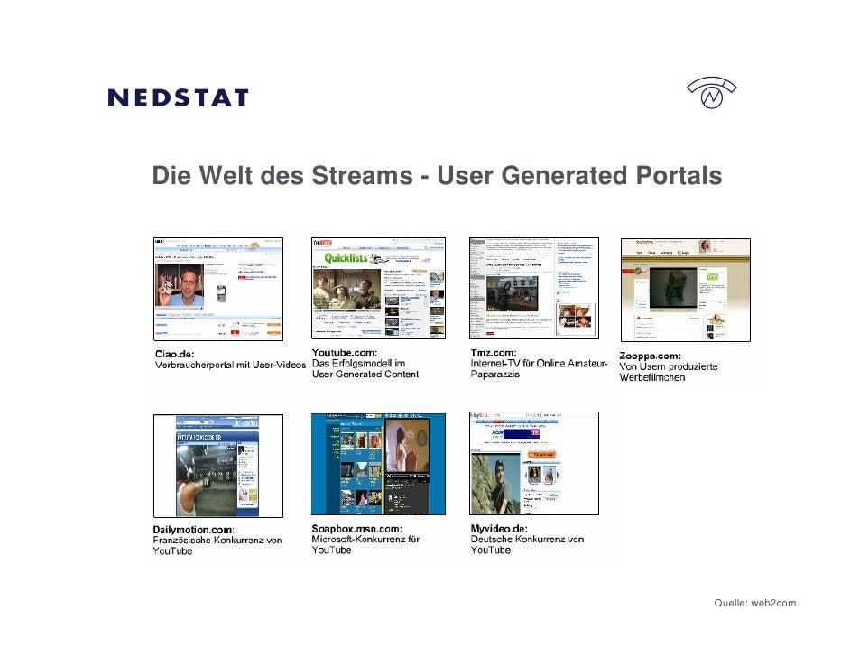 Die Welt des Streams - User Generated Portals                                                 Quelle: web2com