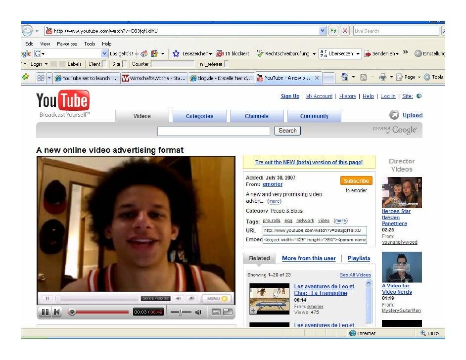 Video-Beispiele  • Overlay Ads   • Werbebotschaft am unteren Rand des Bildschirms    • Ca. 20% des Platzbedarfs    • Zusch...
