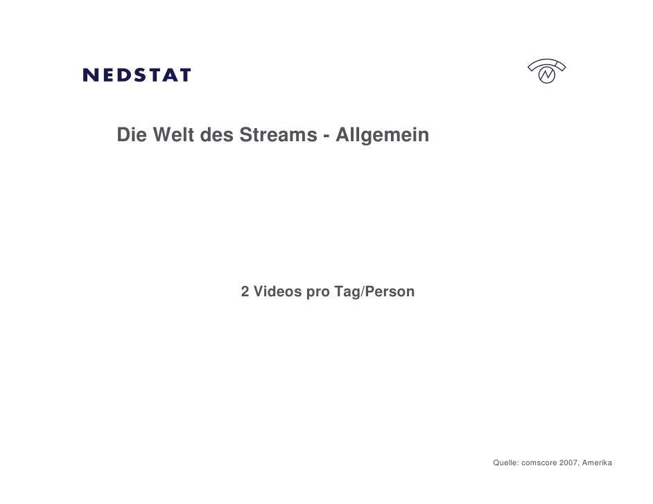 Die Welt des Streams - Allgemein                 2 Videos pro Tag/Person                                           Quelle:...