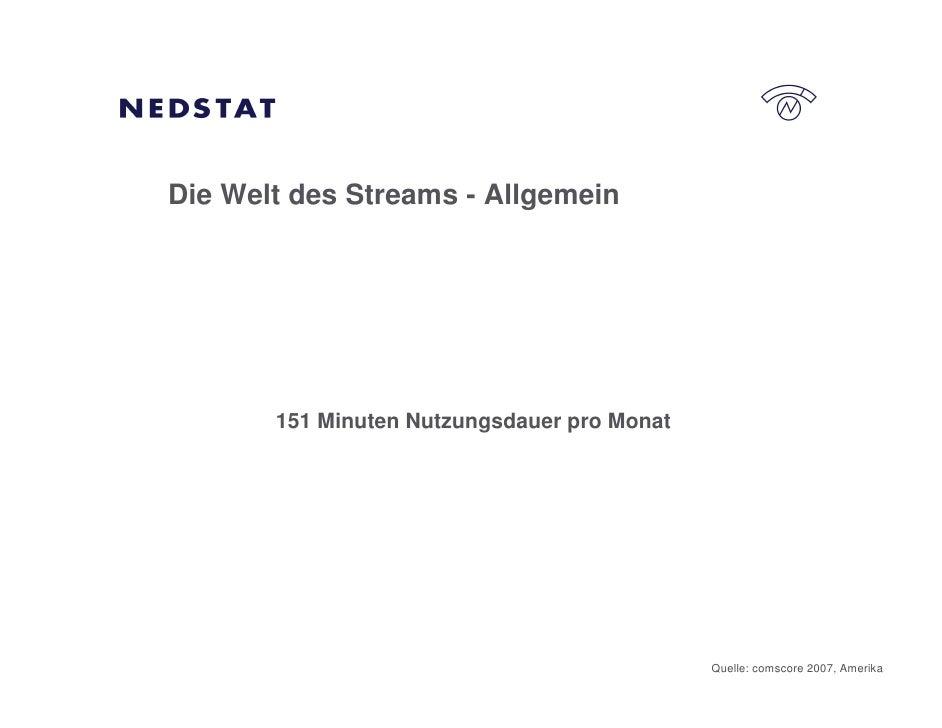 Die Welt des Streams - Allgemein            151 Minuten Nutzungsdauer pro Monat                                           ...