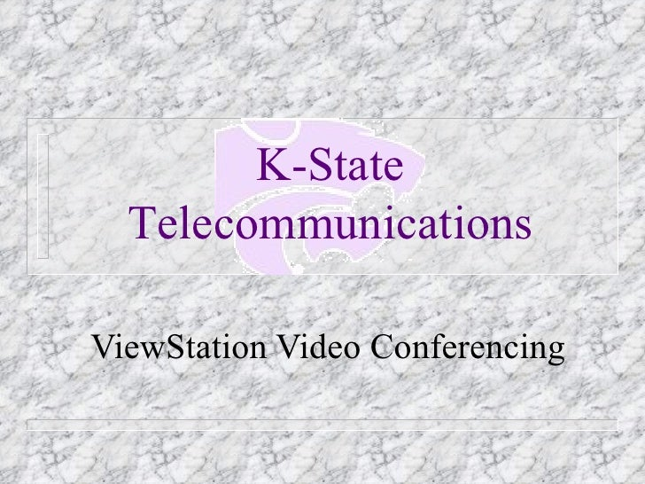 ViewStation Video Conferencing K-State Telecommunications