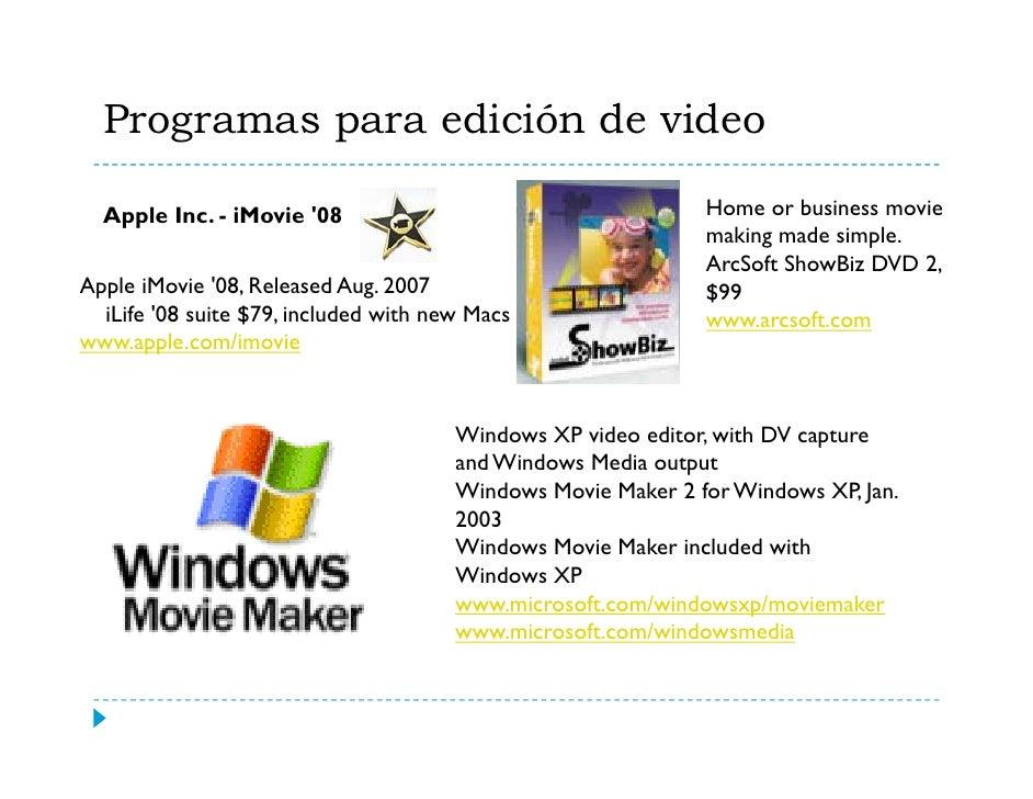 Programas para edición de video (cont.)                 Your life in movies                Pinnacle Studio 11 - May 2007  ...
