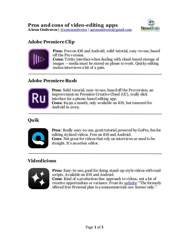 Video editing apps - a aron ontiveroz - denver news-train