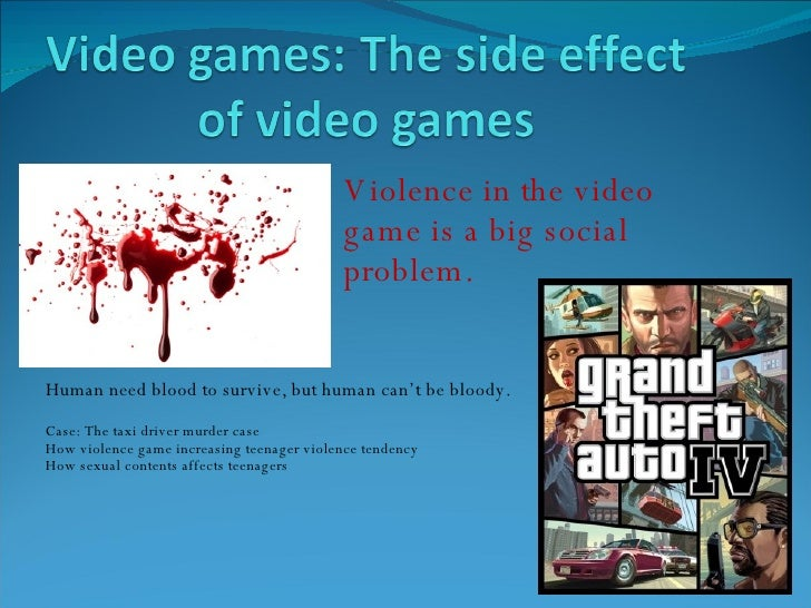 Graph of negative effects of video games