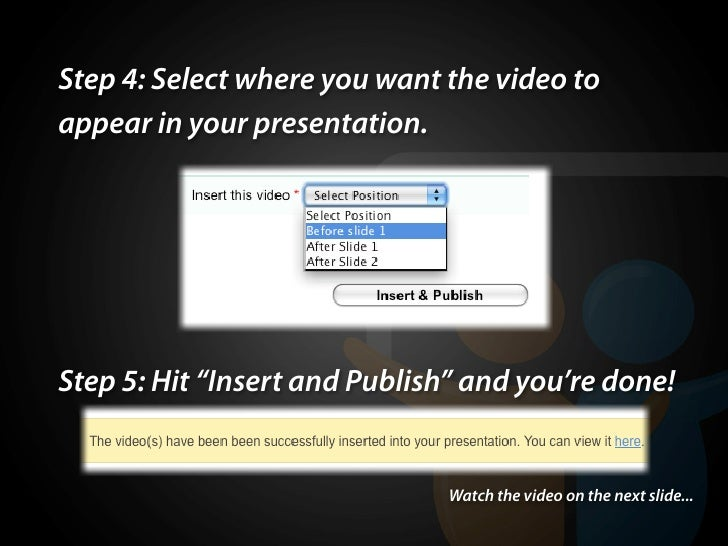 how to add youtube videos to slideshare presentations