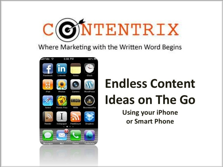Endless ContentIdeas on The Go  Using your iPhone   or Smart Phone