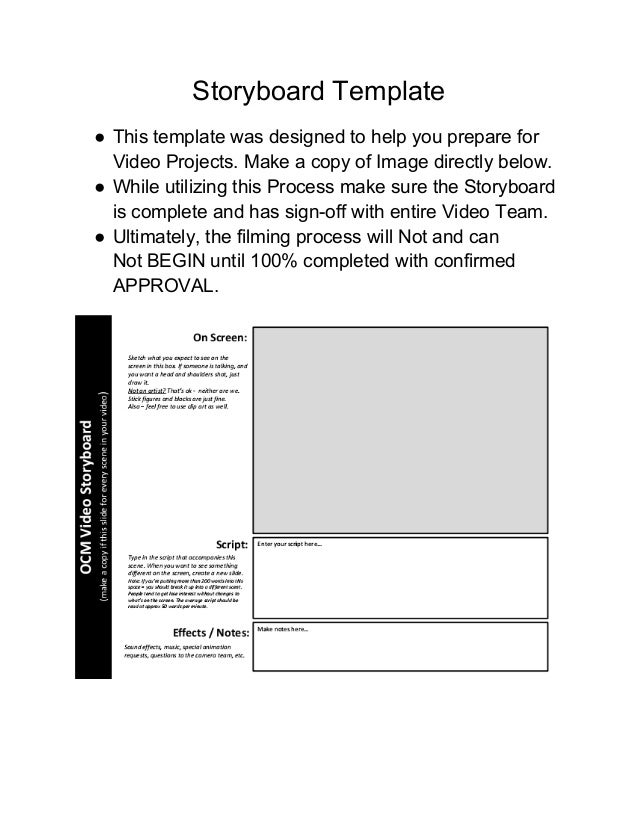 Beautiful Music Video Storyboard Template Ornament - Examples ...