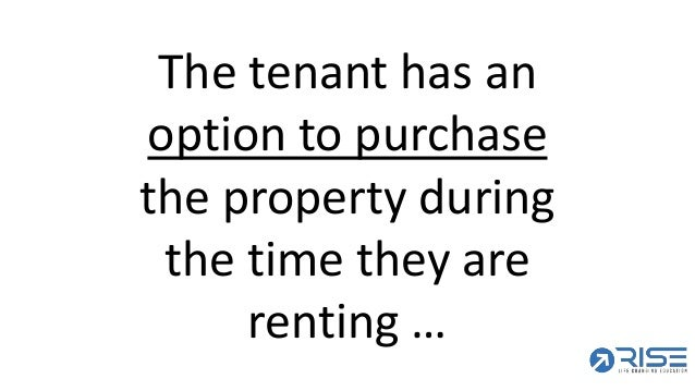 Video 31 what is a lease option anyway 16 the tenant has an option to purchase ccuart Image collections