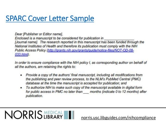 Nih grant cover letter address