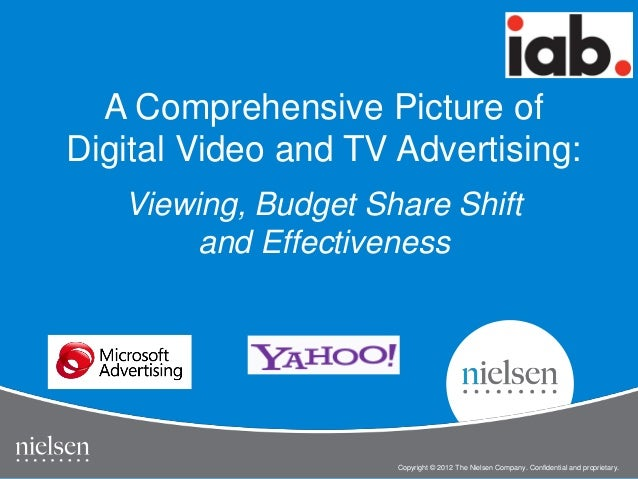 1 Copyright © 2012 The Nielsen Company. Confidential and proprietary. IAB Online Video Study Copyright © 2012 The Nielsen ...