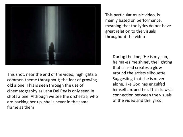 Video Analysis Lana del Rey Young and Beautiful