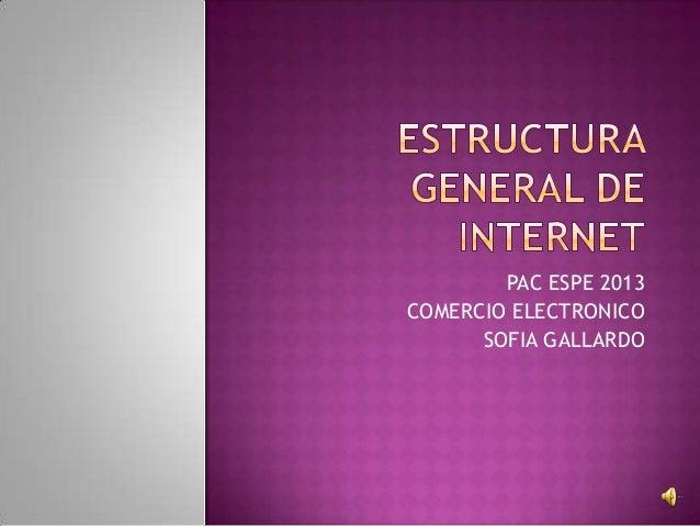 PAC ESPE 2013 COMERCIO ELECTRONICO SOFIA GALLARDO