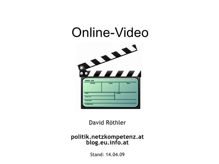 Online-Video David Röthler politik.netzkompetenz.at blog.eu.info.at Stand:  09.06.09