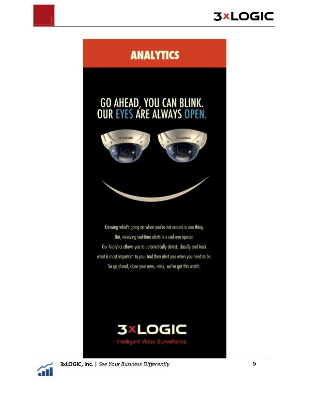 About 3xLOGIC, Inc. 3xLOGIC seamlessly integrates audio data, video data and transactional data in a logical union known a...