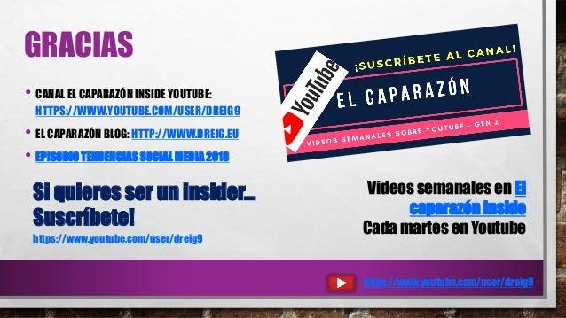 GRACIAS • CANAL EL CAPARAZÓN INSIDE YOUTUBE: HTTPS://WWW.YOUTUBE.COM/USER/DREIG9 • EL CAPARAZÓN BLOG: HTTP://WWW.DREIG.EU ...