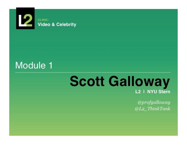 CLINIC:     Video & Celebrity!Module 1!                  Scott Galloway!                           L2 | NYU Stern!      ...
