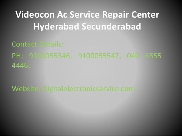 Videocon ac service repair center hyderabad secunderabad