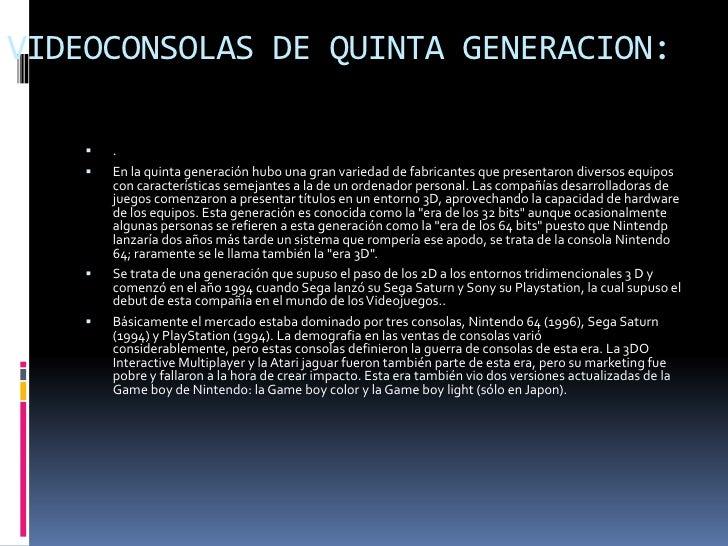 VIDEOCONSOLAS DE SEPTIMAGENERACION   :   Esta generación se caracteriza por la introducción de la tecnologia multunucleo...