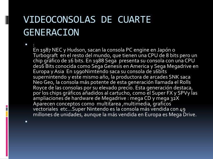 VIDEOCONSOLAS DE QUINTA GENERACION:       .       En la quinta generación hubo una gran variedad de fabricantes que pres...