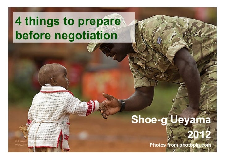 4 things to preparebefore negotiation                       Shoe-g Ueyama                                 2012           ...