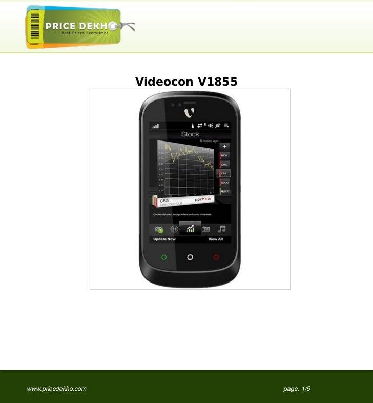 Videocon+V1855+specification