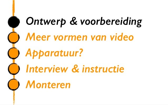 Sbo video in e learning dag 2 - Ontwerp leuning ...