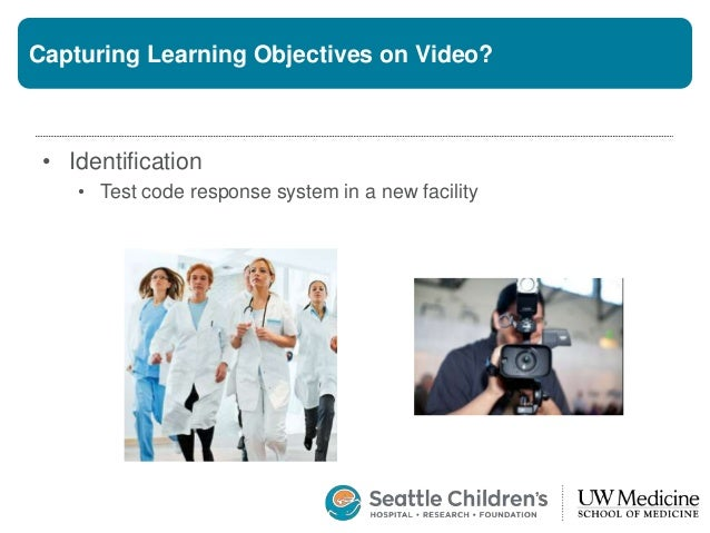 Capturing Learning Objectives on Video? • Identification • Test code response system in a new facility