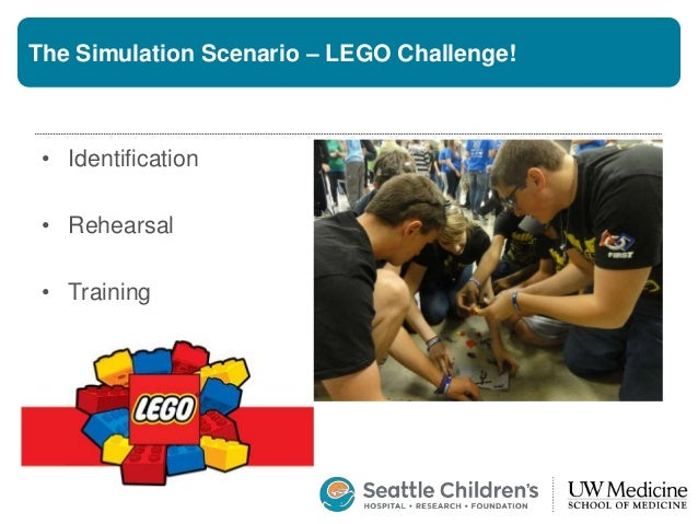 The Simulation Scenario – LEGO Challenge! • Identification • Crisis resource management skills • Establish clear leadershi...