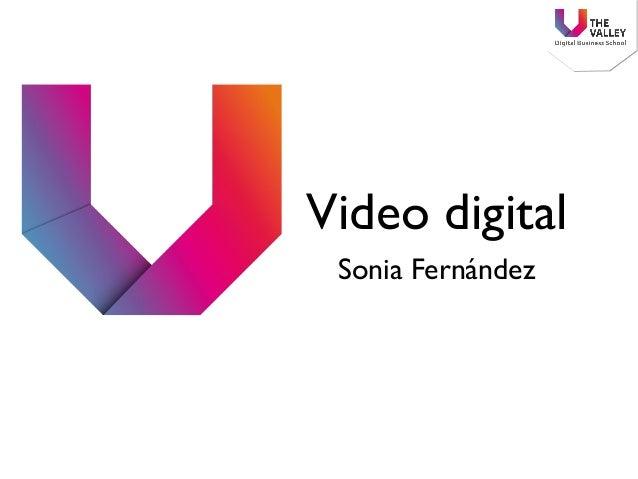 Video digital Sonia Fernández