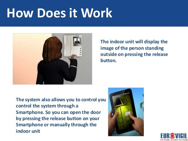 How does the doorphone work