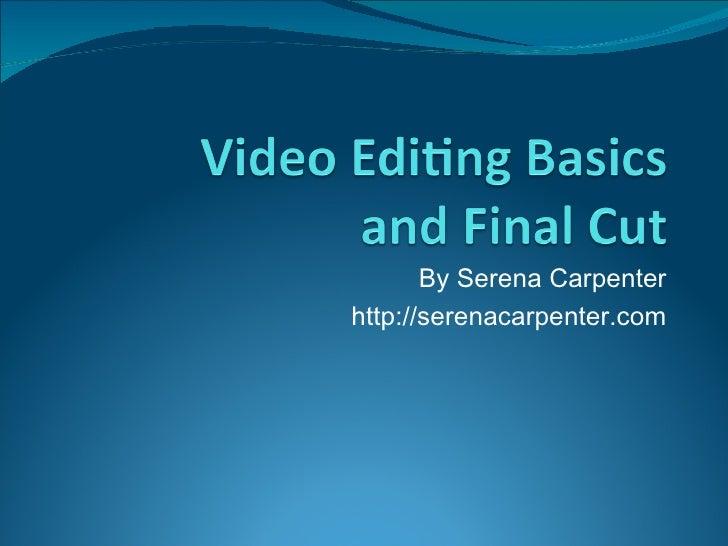 By Serena Carpenter http://serenacarpenter.com