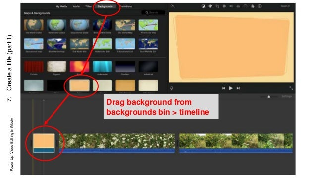Video editing in iMovie