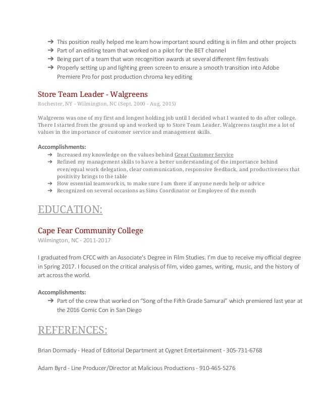 Walgreens Resume resume content digital marketing manager resume template click to download pdf resume 3