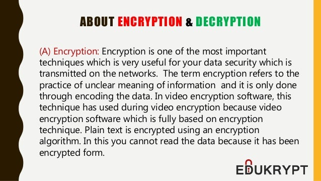 Edukrypt Video Encryption Software for Android Phones