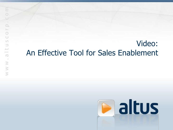 Video: An Effective Tool for Sales Enablement<br />