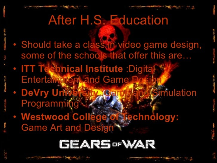 Video Game Design - Game designer education requirements