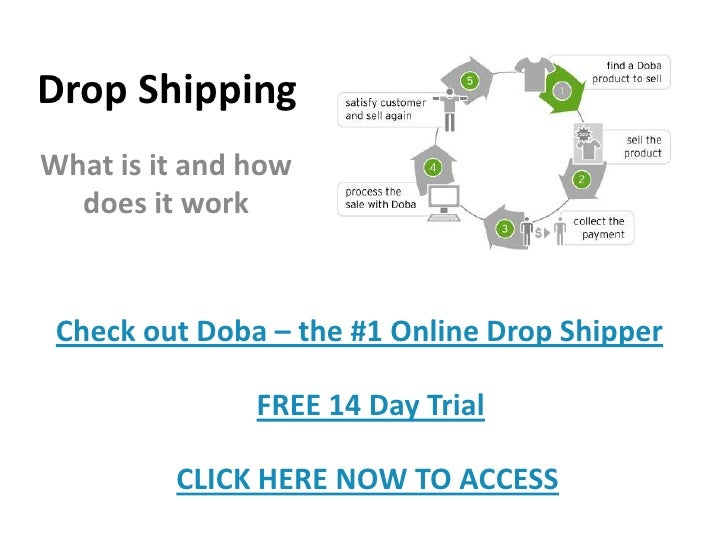 Drop Shipping<br />What is it and how does it work<br />Check out Doba – the #1 Online Drop Shipper<br />FREE 14 Day Trial...