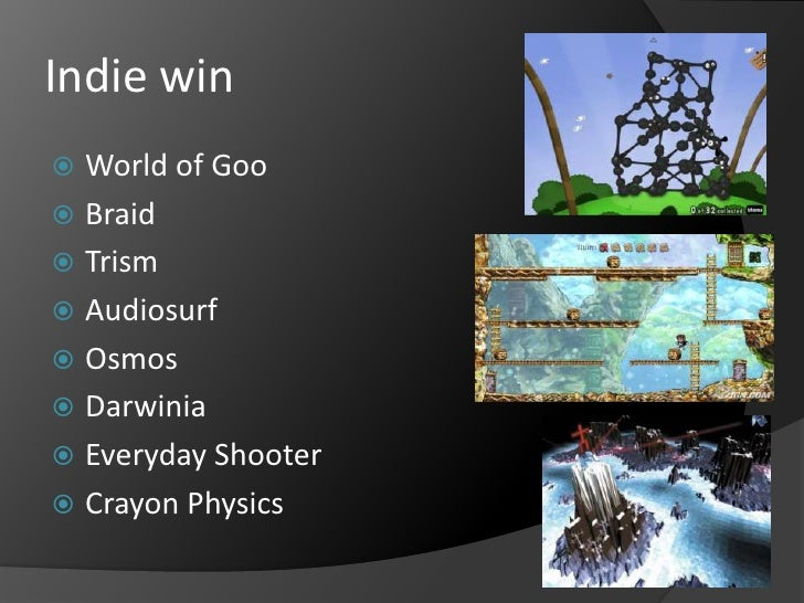 Indie win<br />World of Goo<br