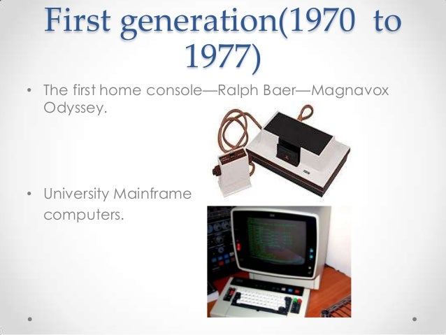 First Generation Consolesthe History Of Video Games