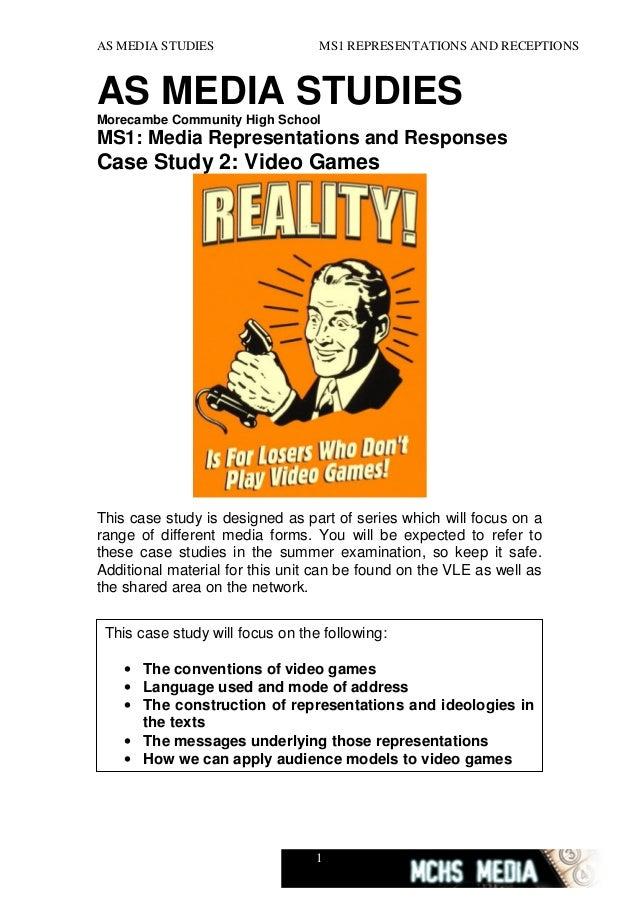 AS MEDIA STUDIES  MS1 REPRESENTATIONS AND RECEPTIONS  AS MEDIA STUDIES Morecambe Community High School  MS1: Media Represe...