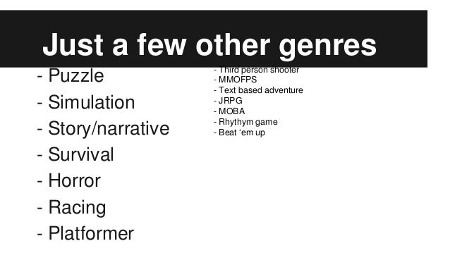 video games genre definitions and examples