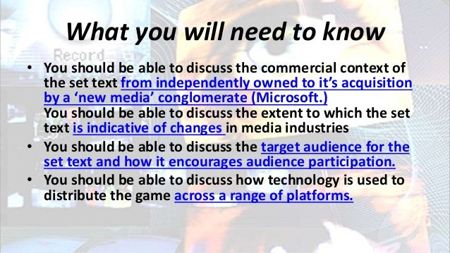 What you will need to know • You should be able to discuss the commercial context of the set text from independently owned...