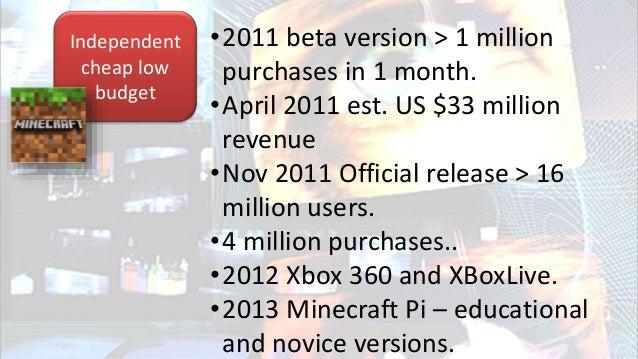 Multi million budget Triple A Video games 2014 Microsoft take over $2.5 billion Dec 2015 Nintendo downloadable copies on s...