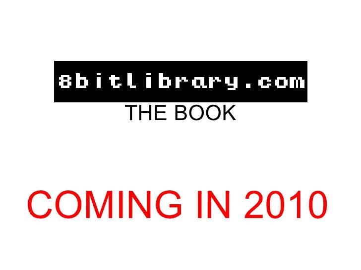 THE BOOK COMING IN 2010