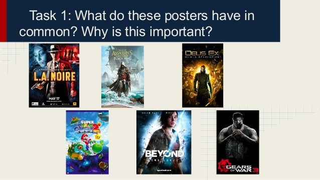 Task 1: What do these posters have in common? Why is this important?
