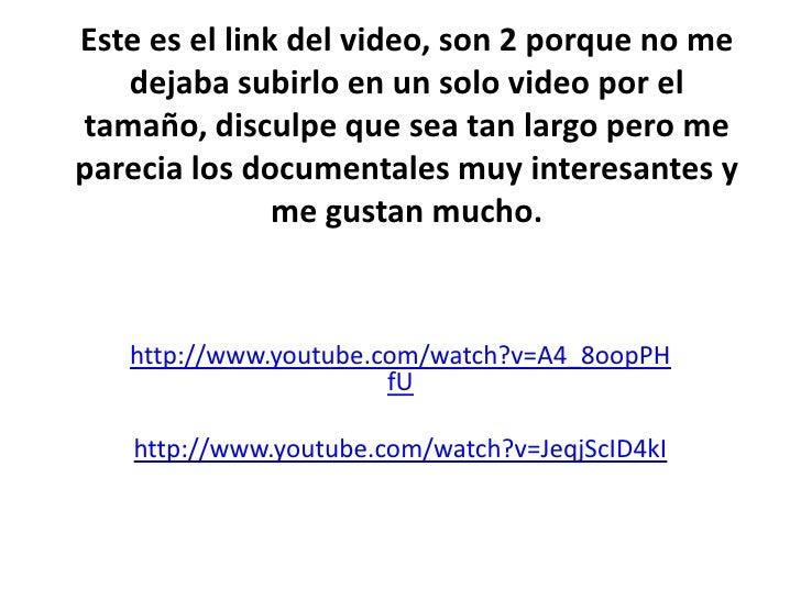 Este es el link del video, son 2 porque no me   dejaba subirlo en un solo video por eltamaño, disculpe que sea tan largo p...